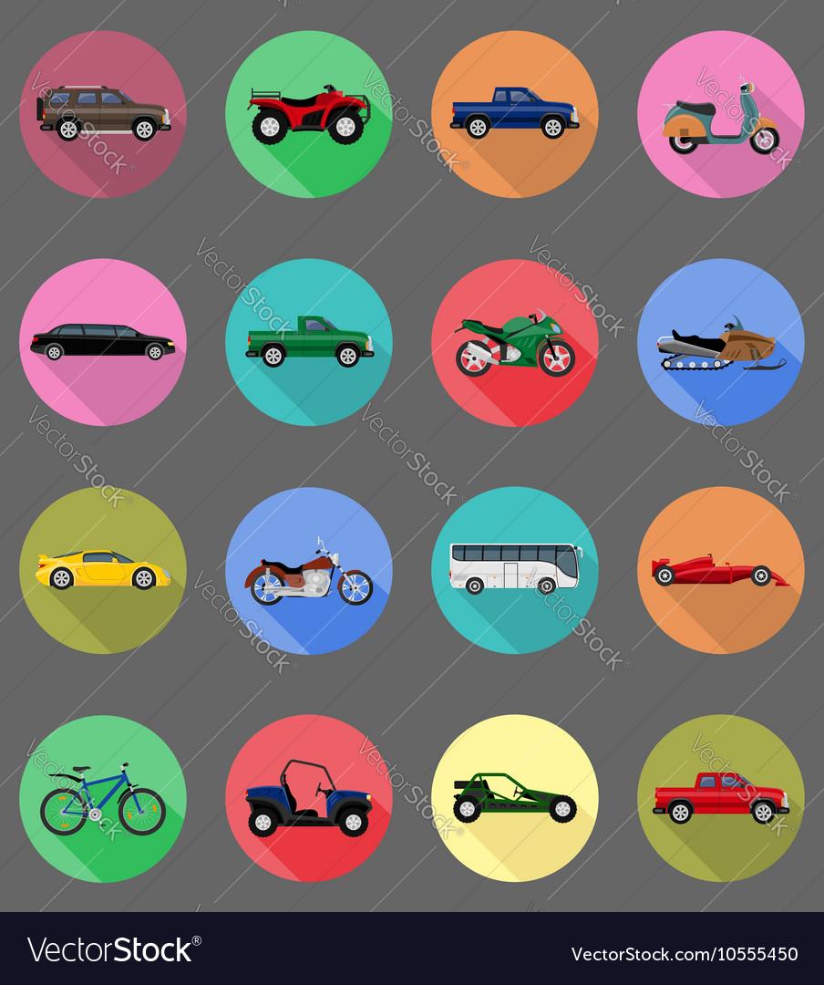Transport flat icons 59