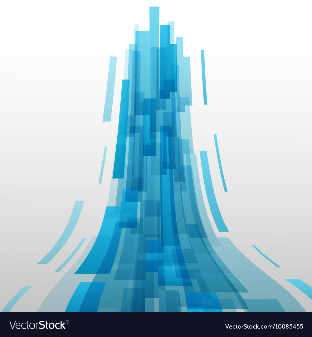 Abstract blue elements technology background