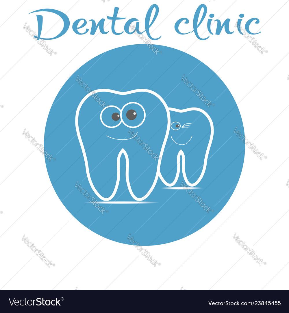 Dental logo with smiling teeth