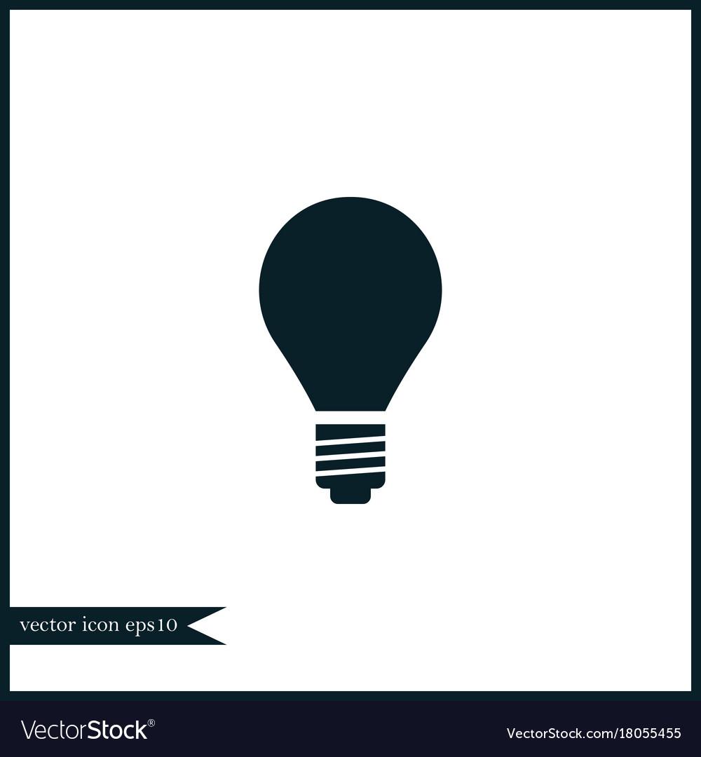 Idea bulb icon simple