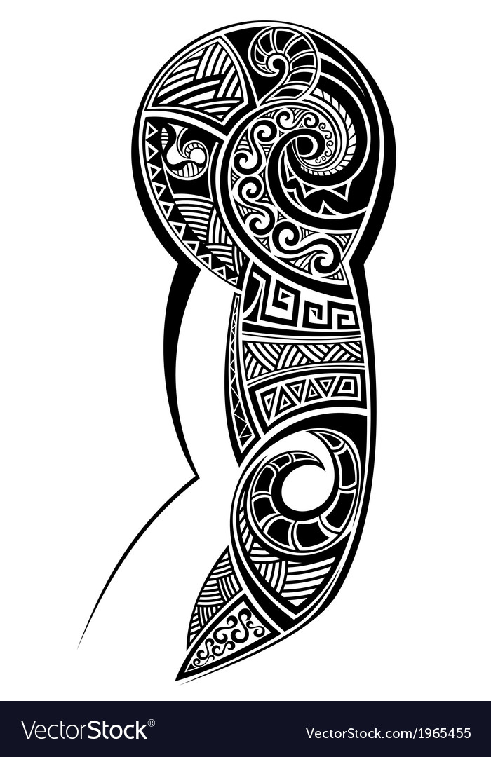 a4e63b2646431 Tattoo designed for a shoulder Royalty Free Vector Image