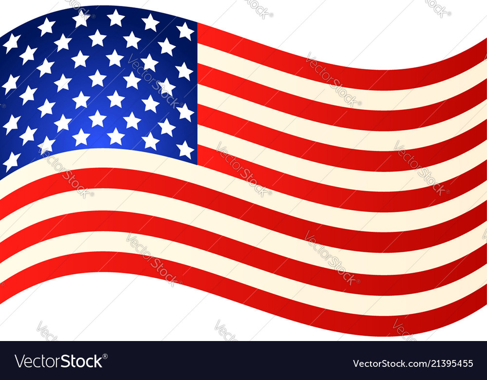 Wave american flag for independence day eps