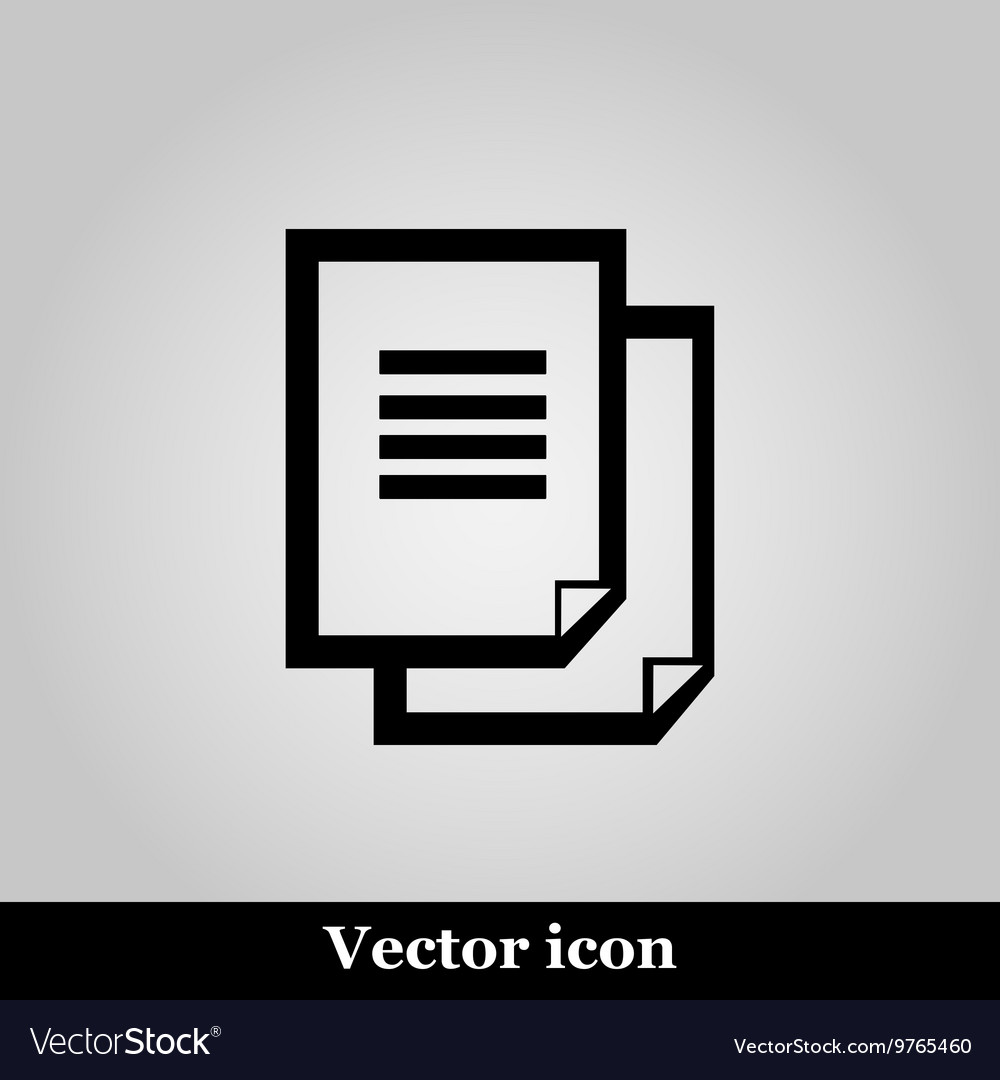 Document icon on grey background