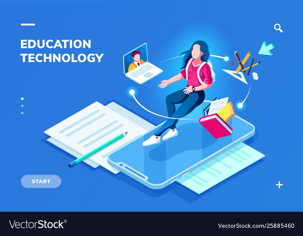 Education technology page for smartphone page
