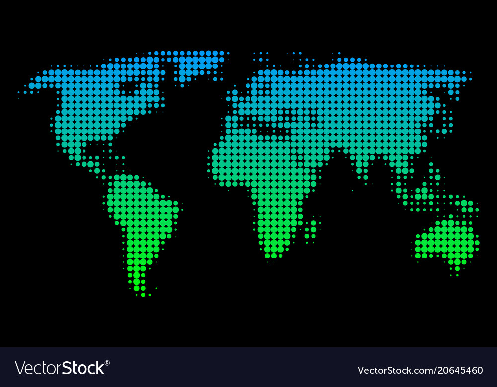 Halftone world map royalty free vector image vectorstock halftone world map vector image gumiabroncs Gallery