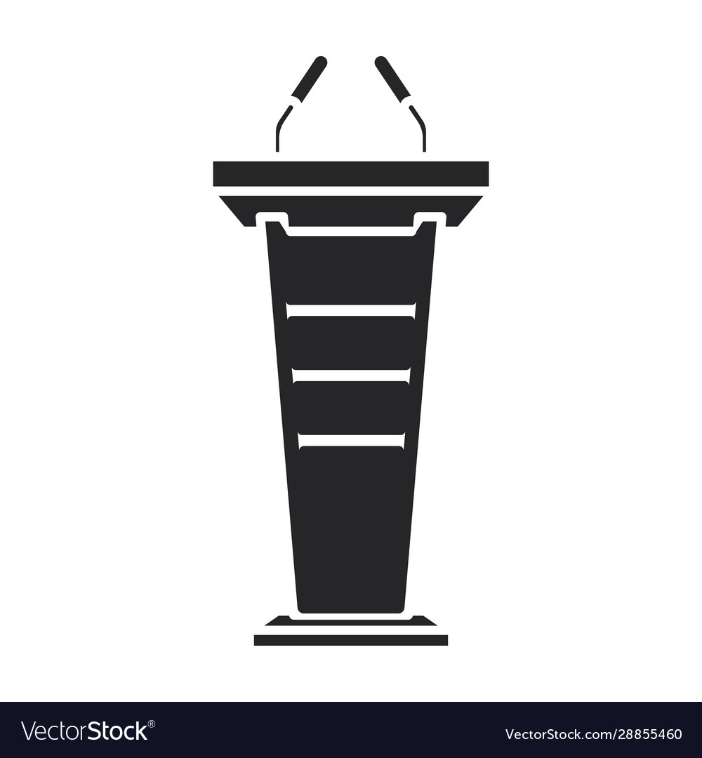Podium rostrum iconblack icon
