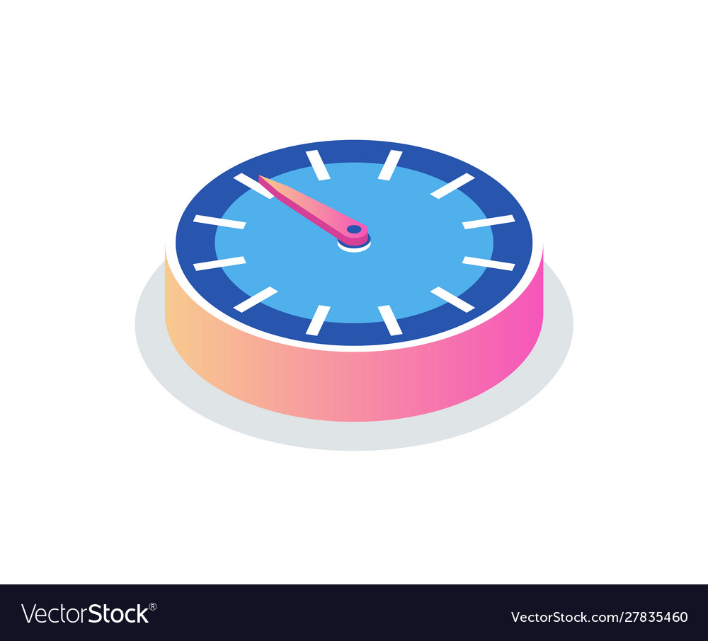 Round clock isolated time measurement icon