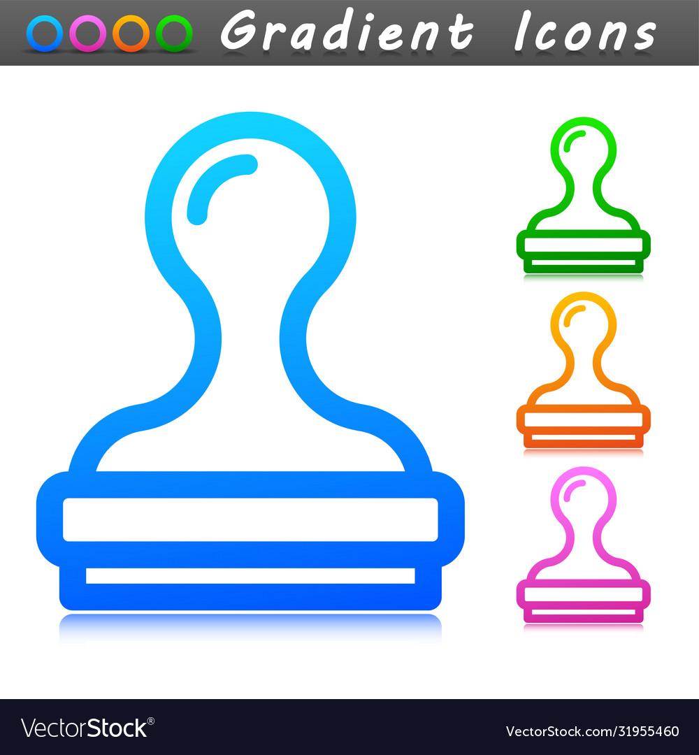 Stamp symbol icon design