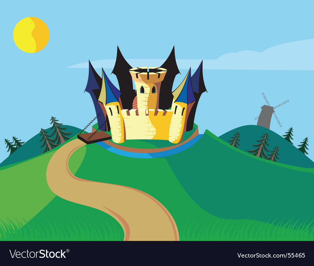 Castle carton vector image