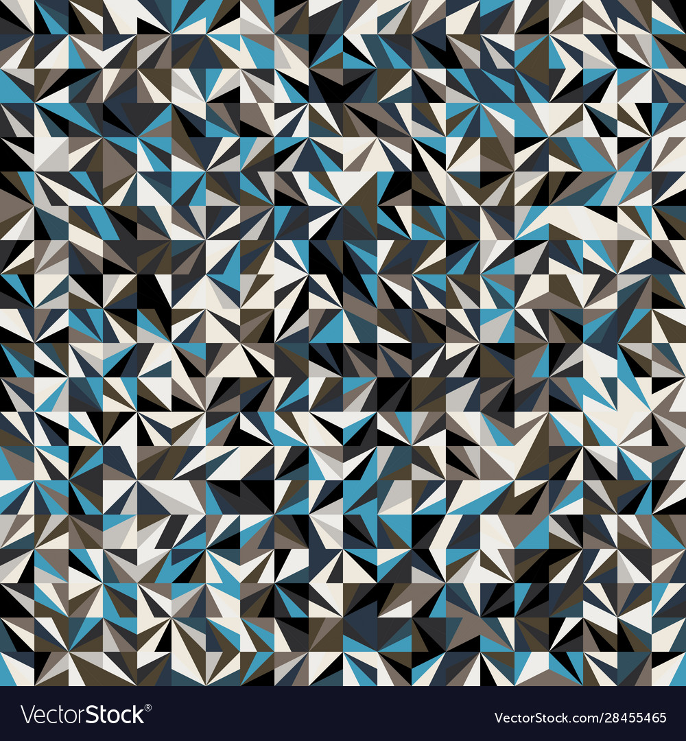Funky stylized geo triangle square tiling pattern