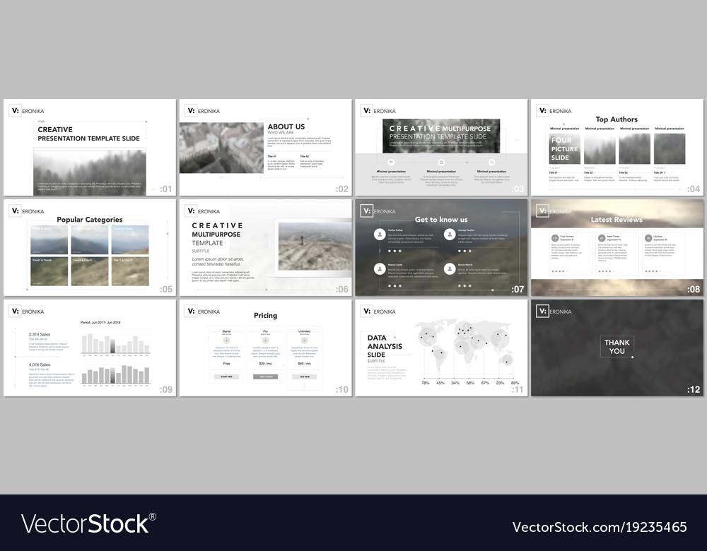 minimal simple geometric presentation templates vector image