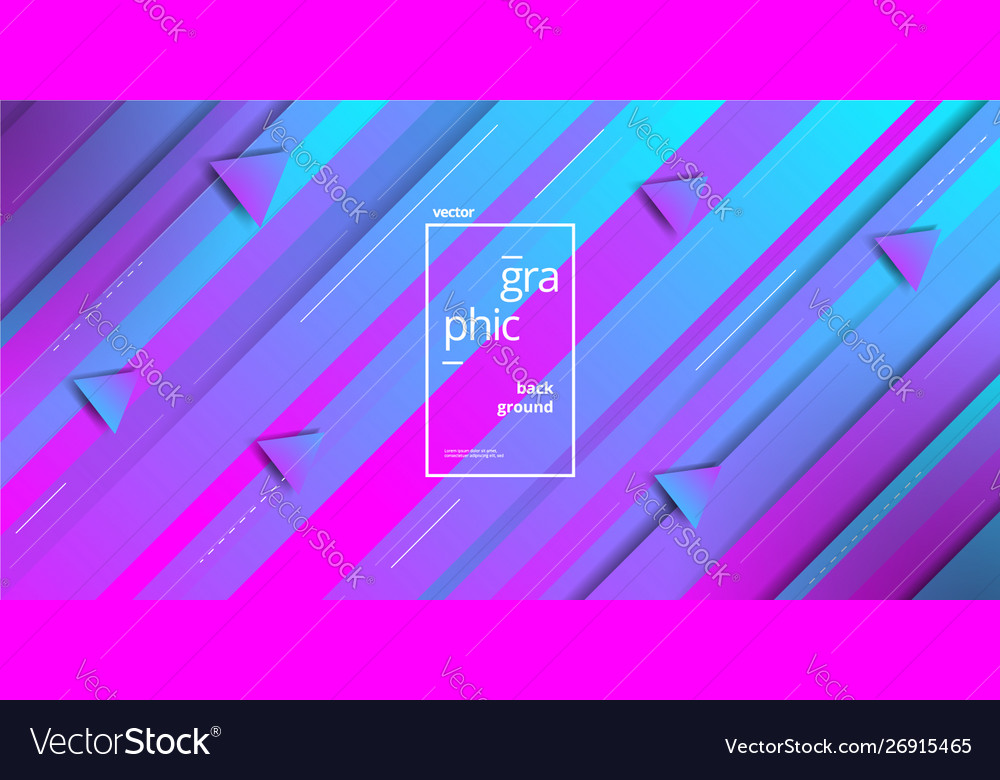 Minimalist geometric blue pink triangle shape