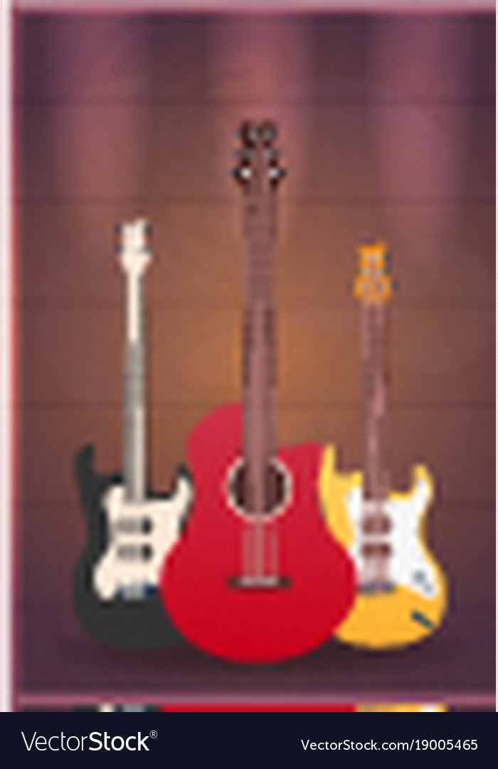 Poster with musical instruments music studio