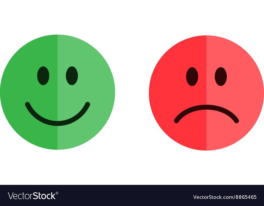 Set of smiley emoticons vector image