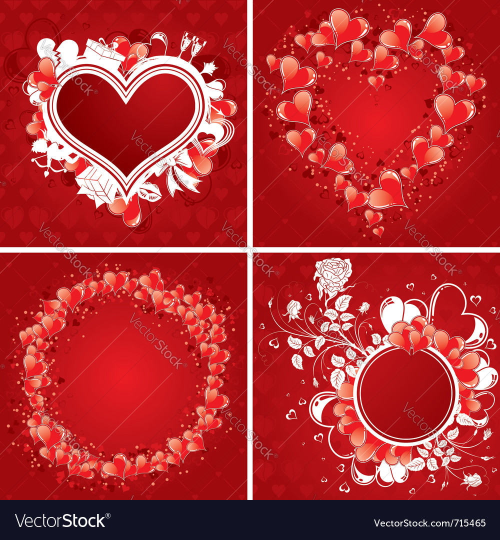 Valentines day poster vector image