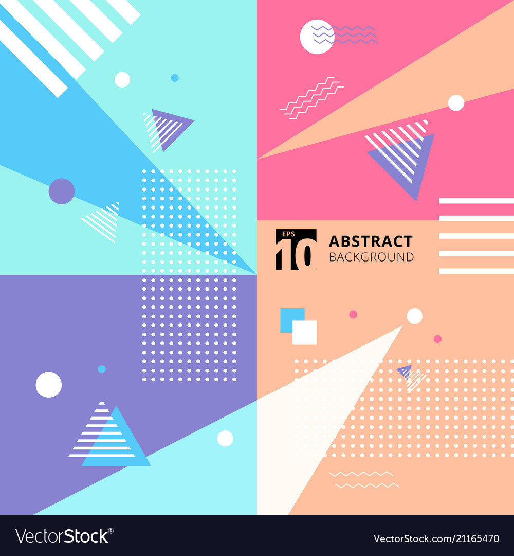 Abstract colorful geometric pattern style