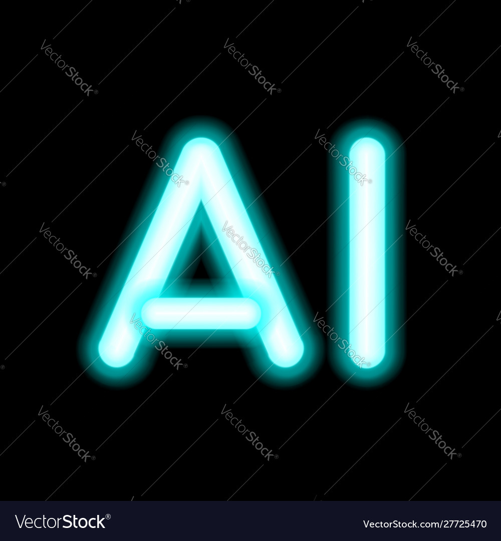Ai letter artificial intelligence neon lamp
