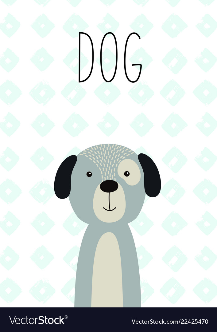 Cute dog for posters cards banners t-shirts