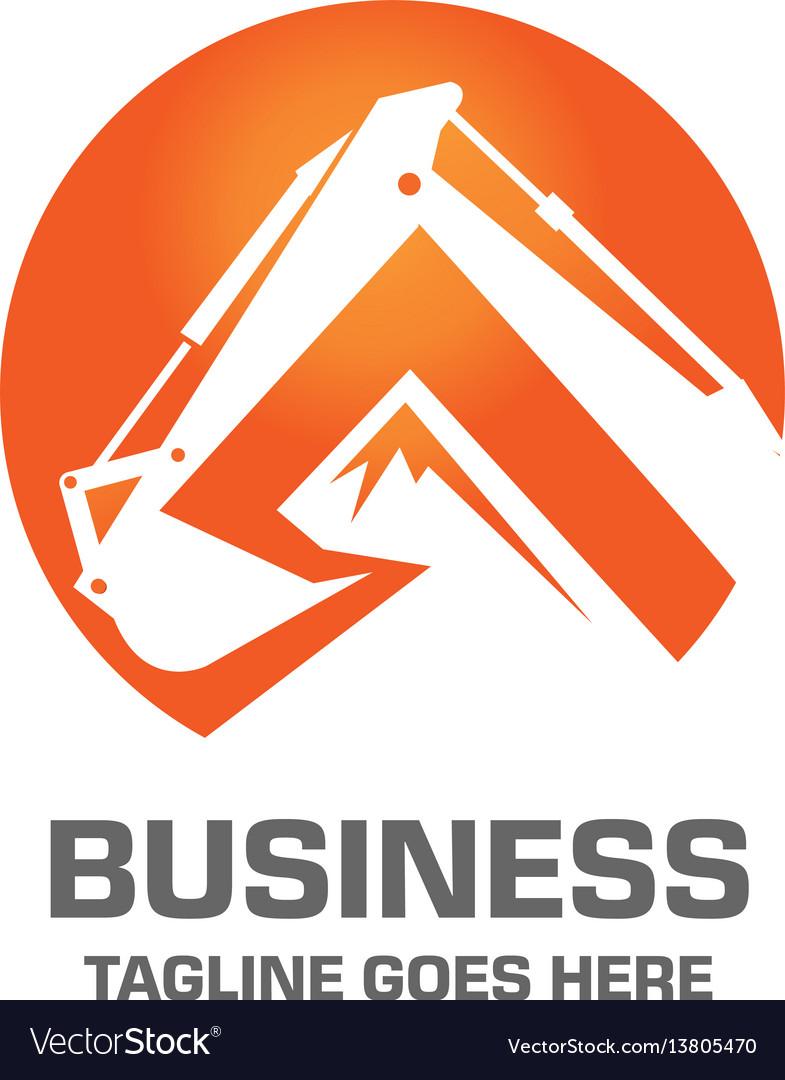 Excavator design logo