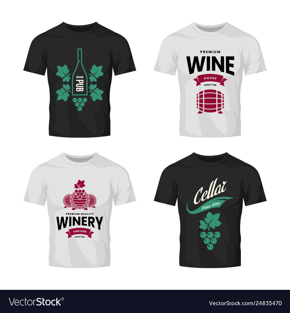 Modern wine logo collection for tavern