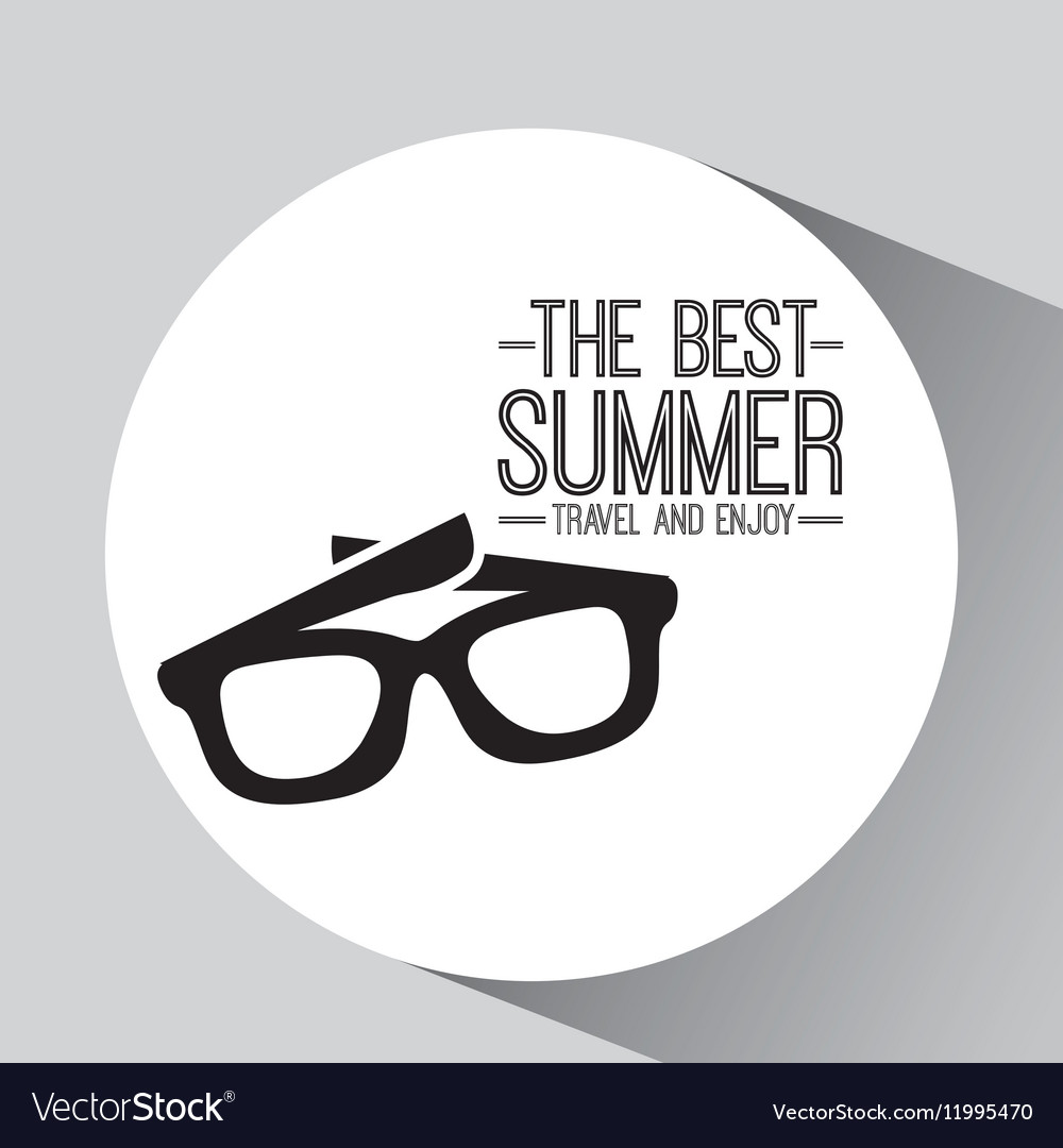 Sunglasses card best summer travel and enjoy