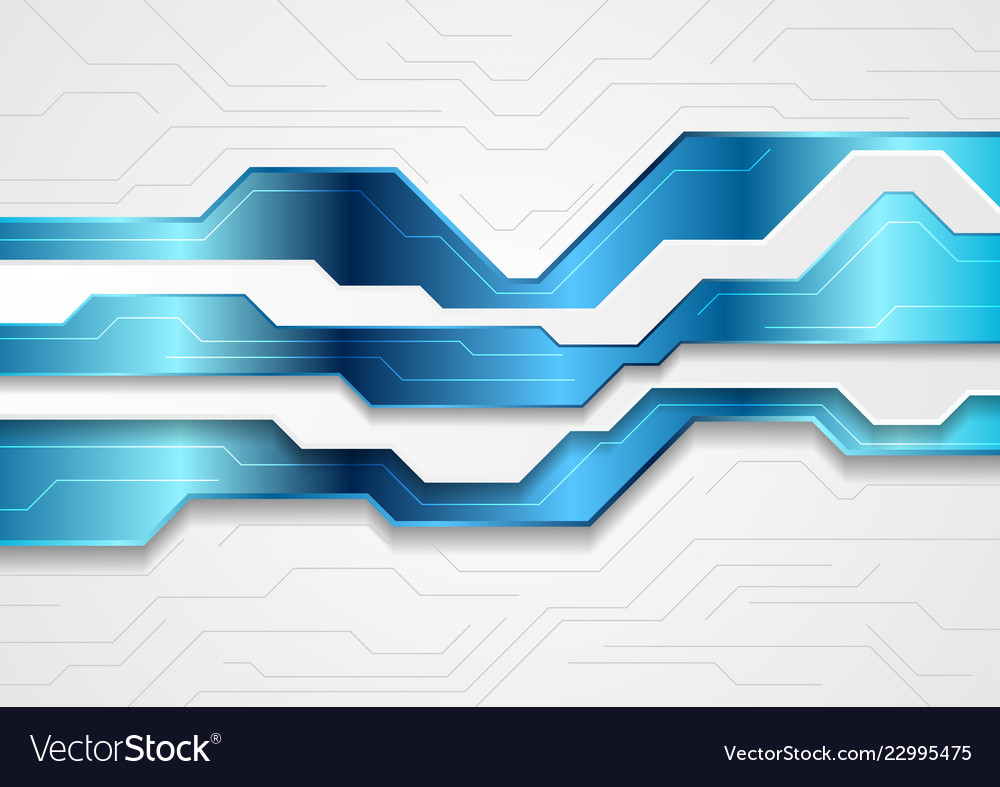Blue and grey abstract technology background