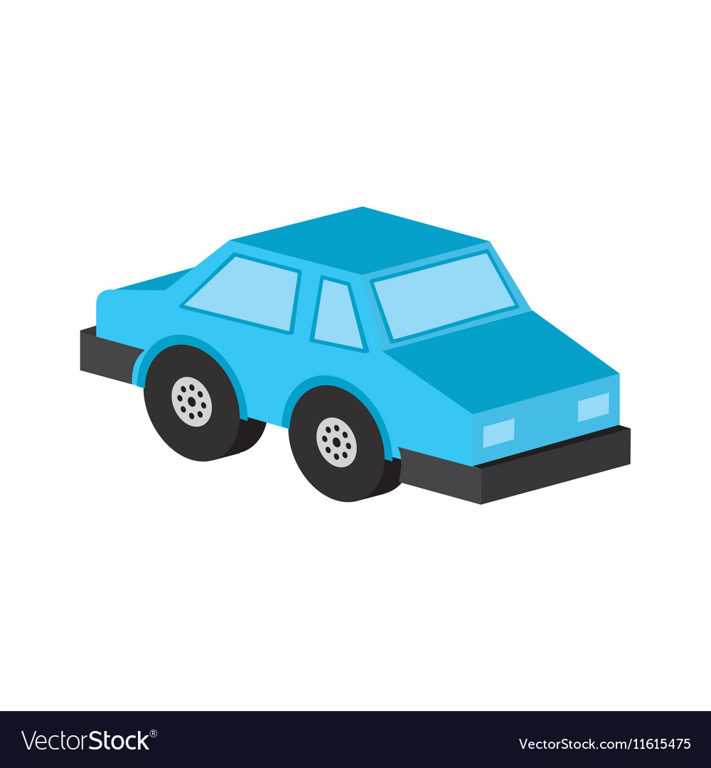 Car sedan blue icon design vector image