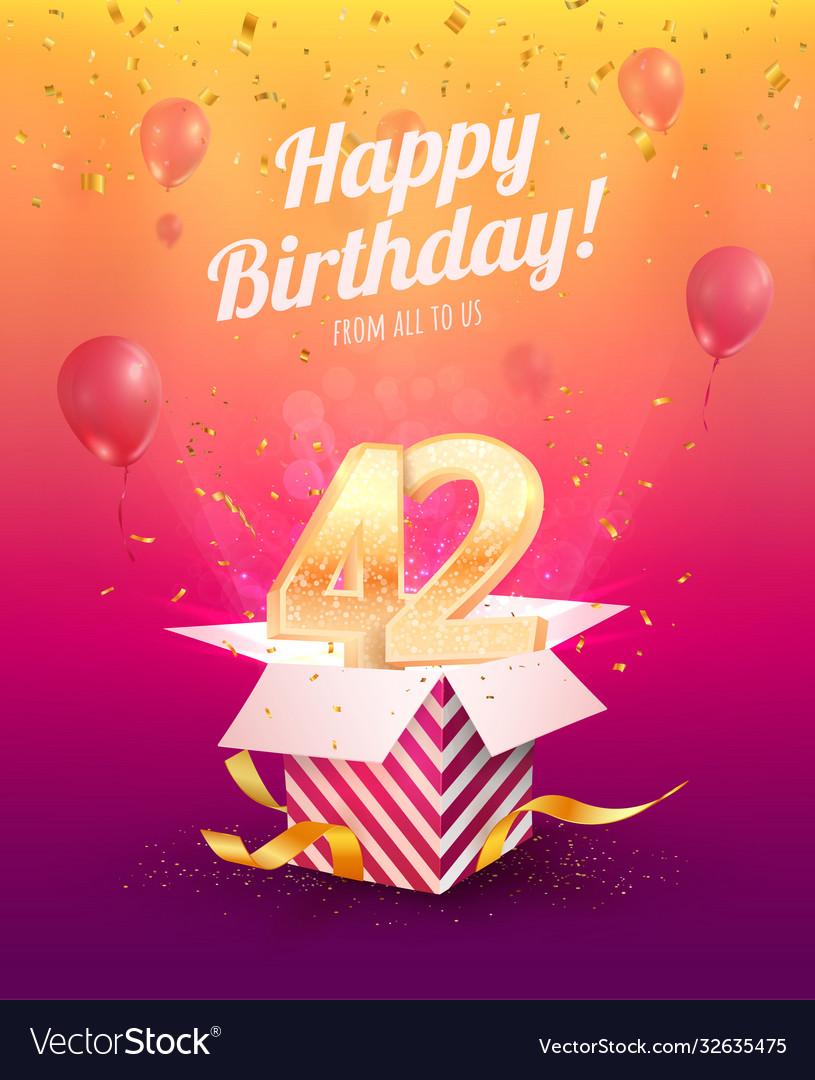 Celebrating 42 nd years birthday