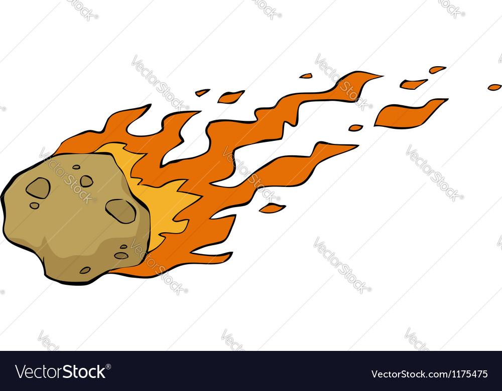 Meteorite on fire vector image