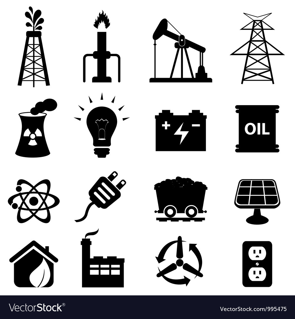 Oil and electricity vector image