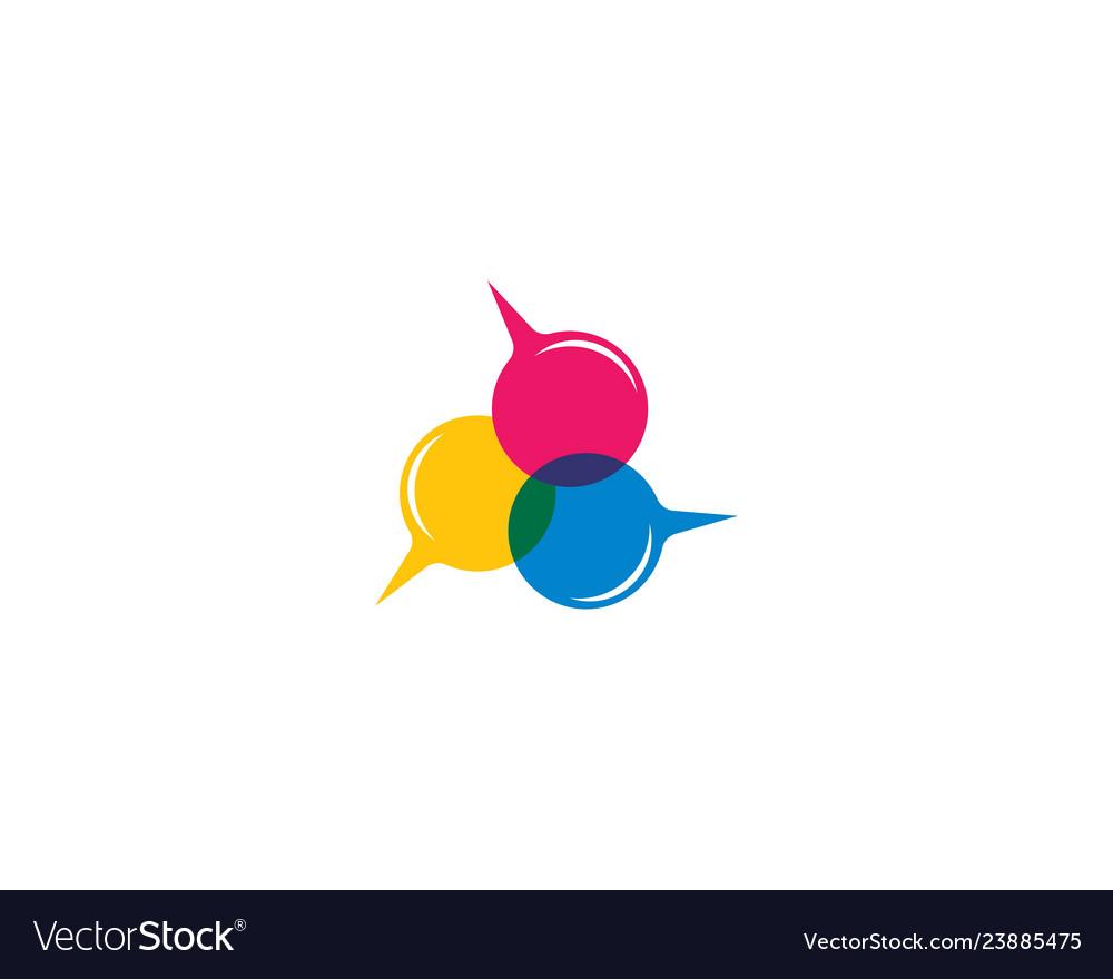 2cdc969d919e62 Speech bubble logo template icon Royalty Free Vector Image