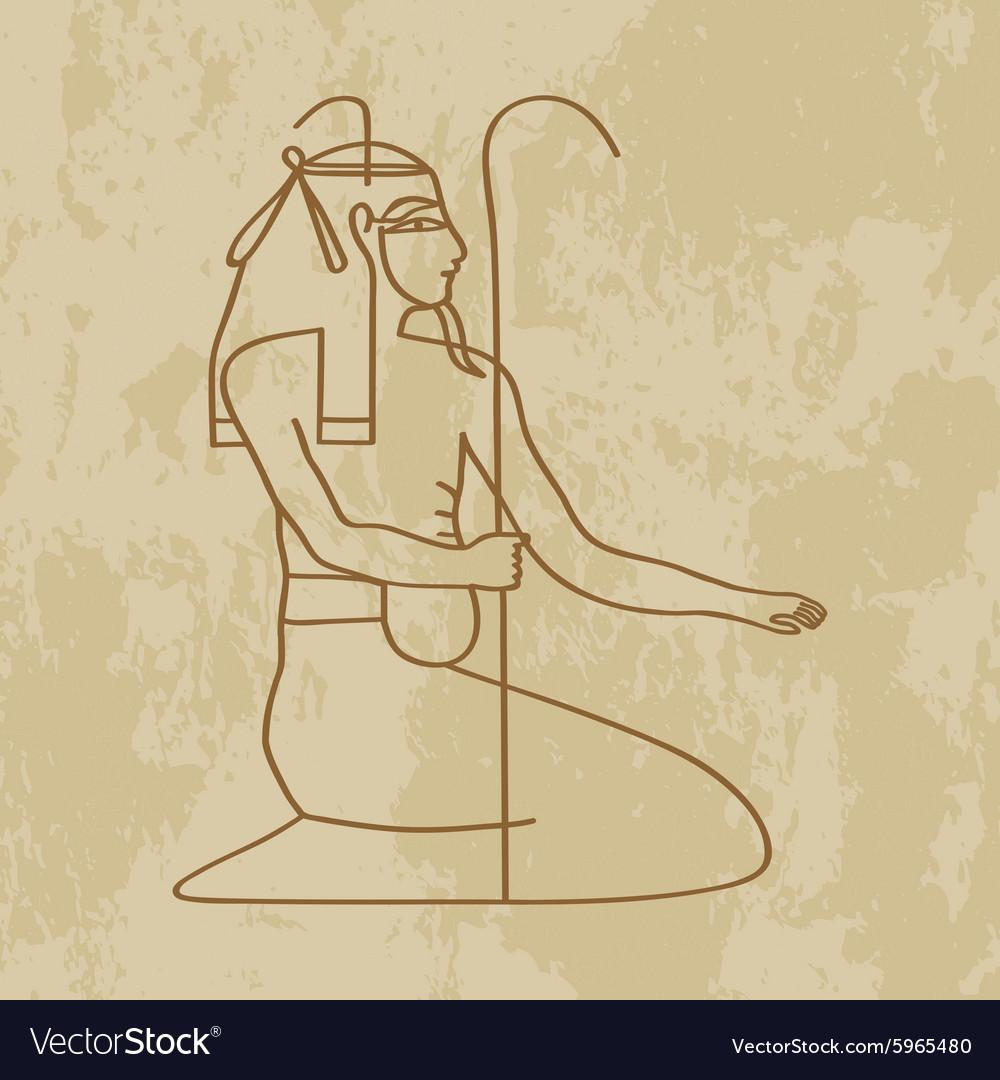 God nun of Egypt vector image