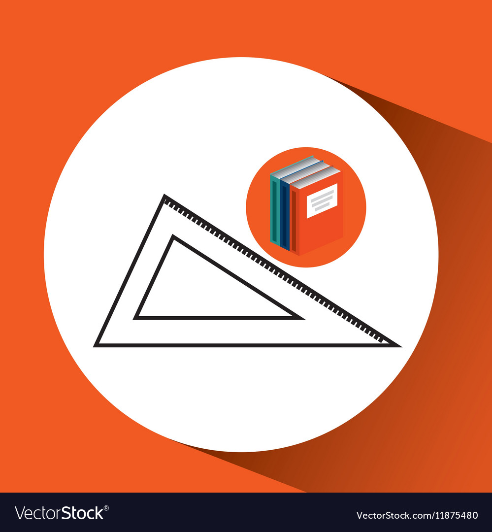 Library books school acessory geometry