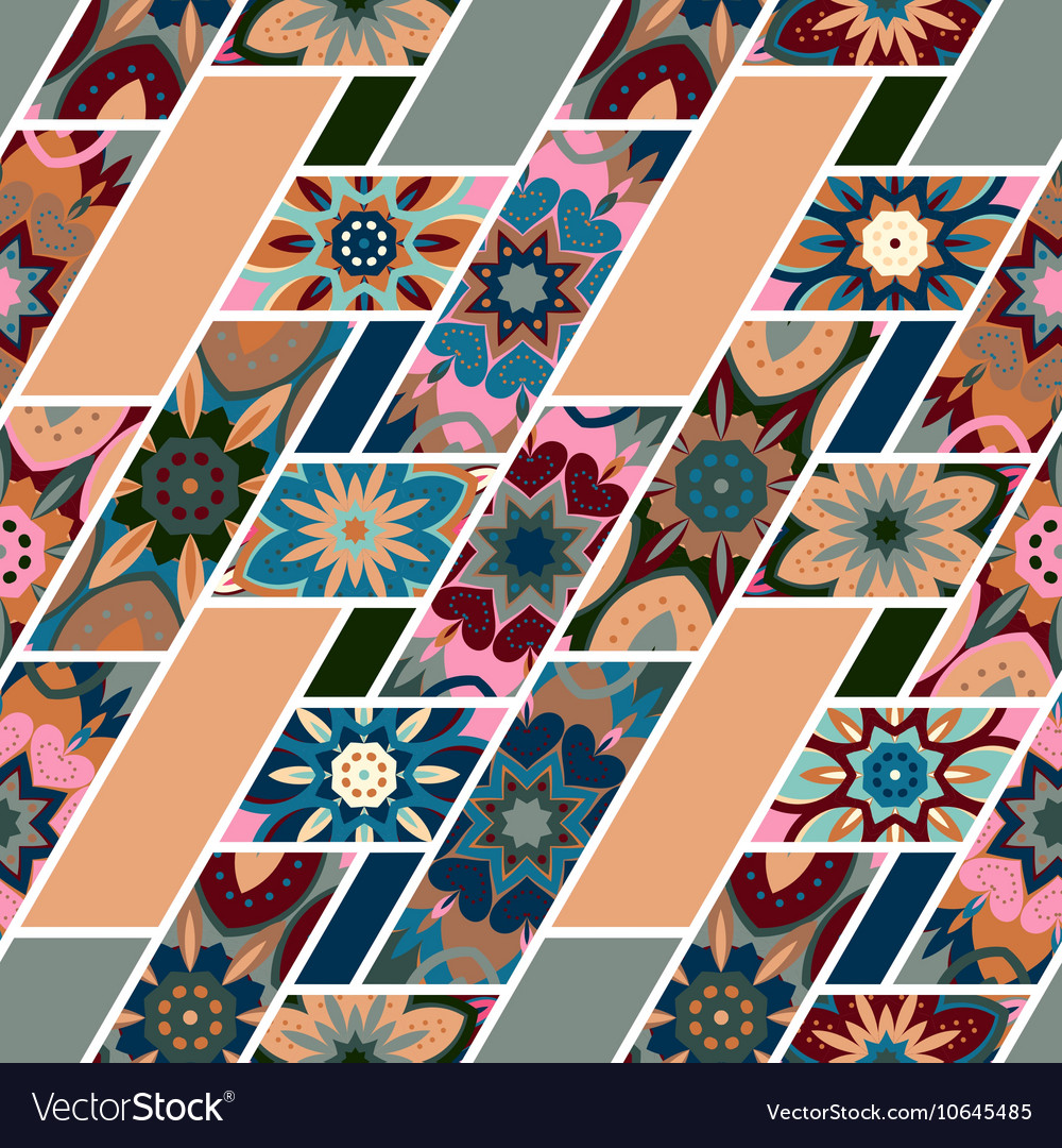 Abstract seamless patchwork pattern with