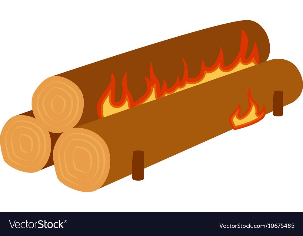 Bonfire isolated