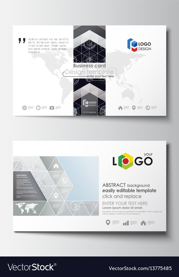 Business card templates easy editable layouts vector image fbccfo Choice Image