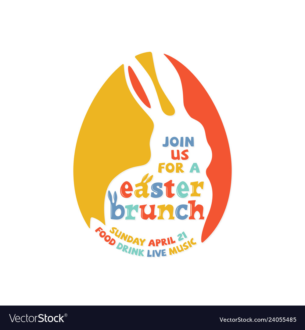 Colorful easter brunch lettering