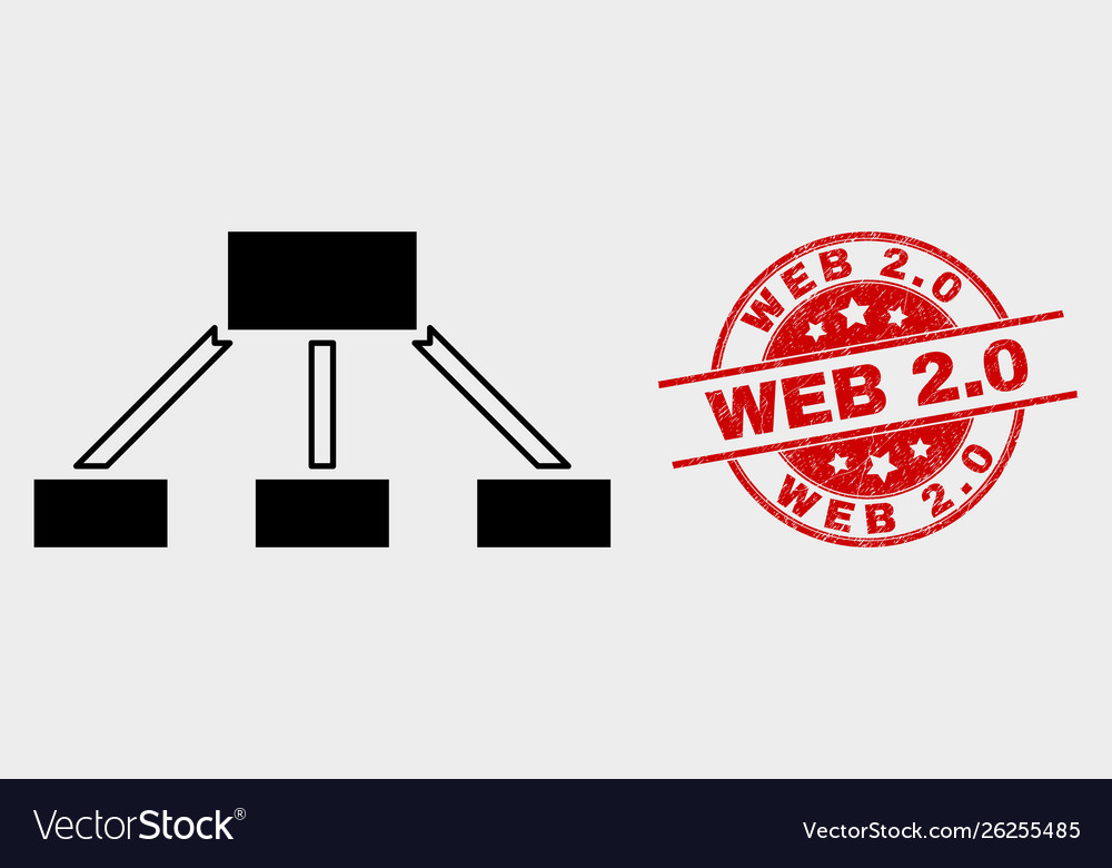 Hierarchy links icon and distress web 20