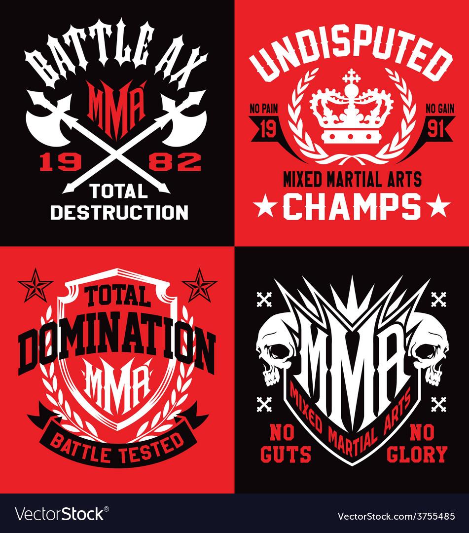 MMA sport emblem graphics