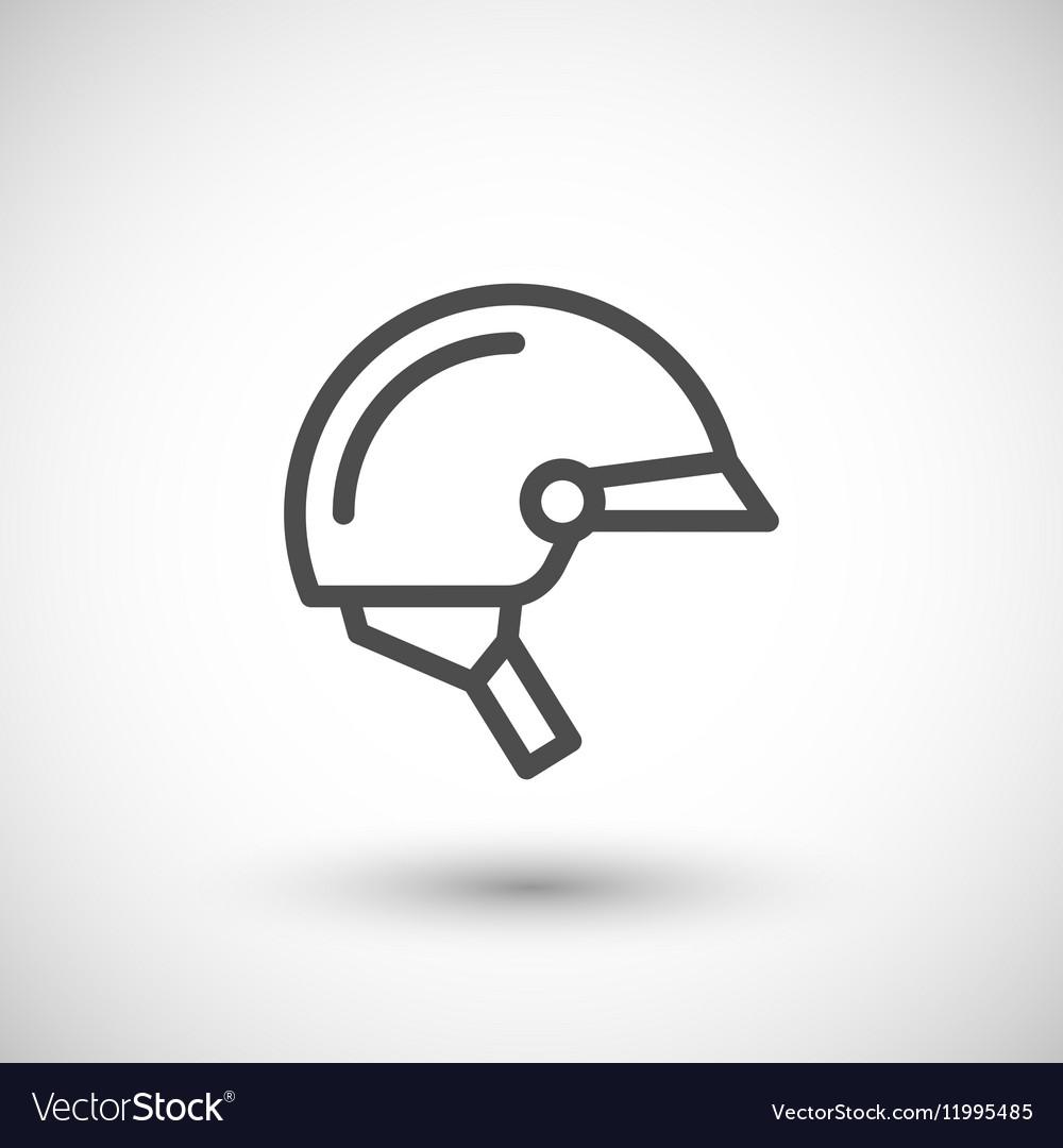 Motorcycle half helmet line icon vector image