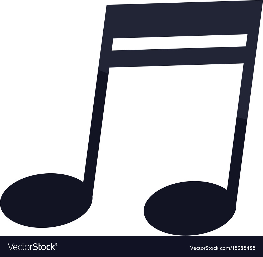 Music note icon melody element symbol