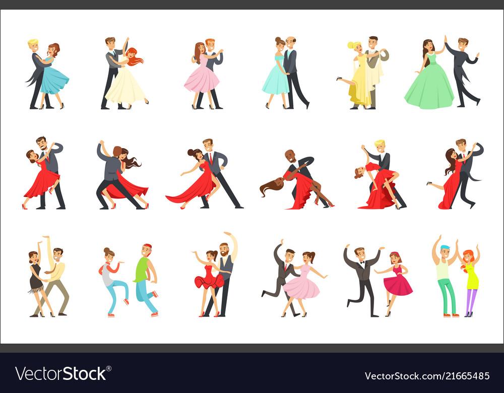 Professional dancer couple dancing tango waltz