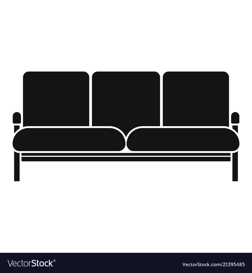 Retro Sofa Icon Simple Style Vector Image