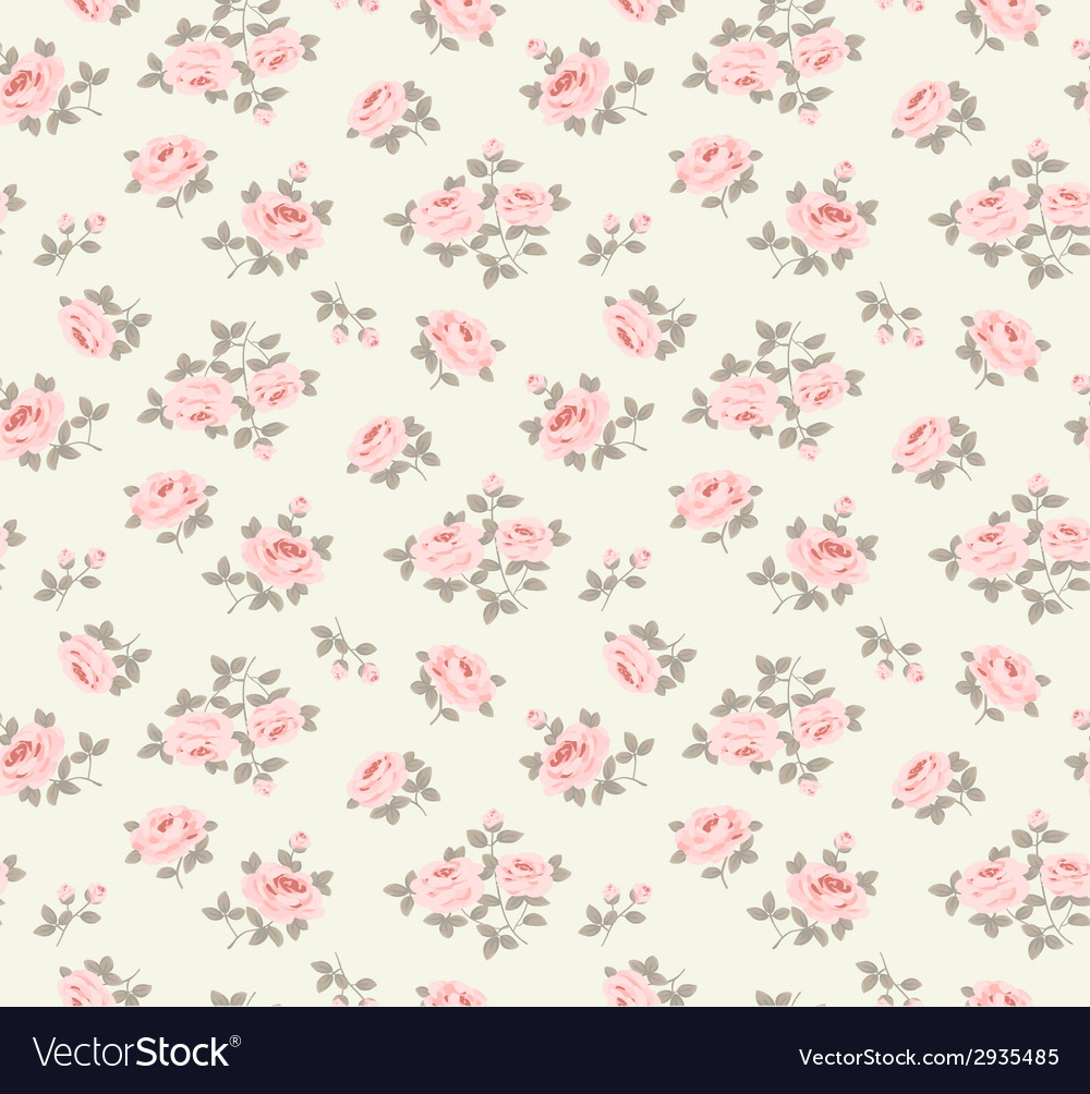Seamlesspattern with little roses vector image