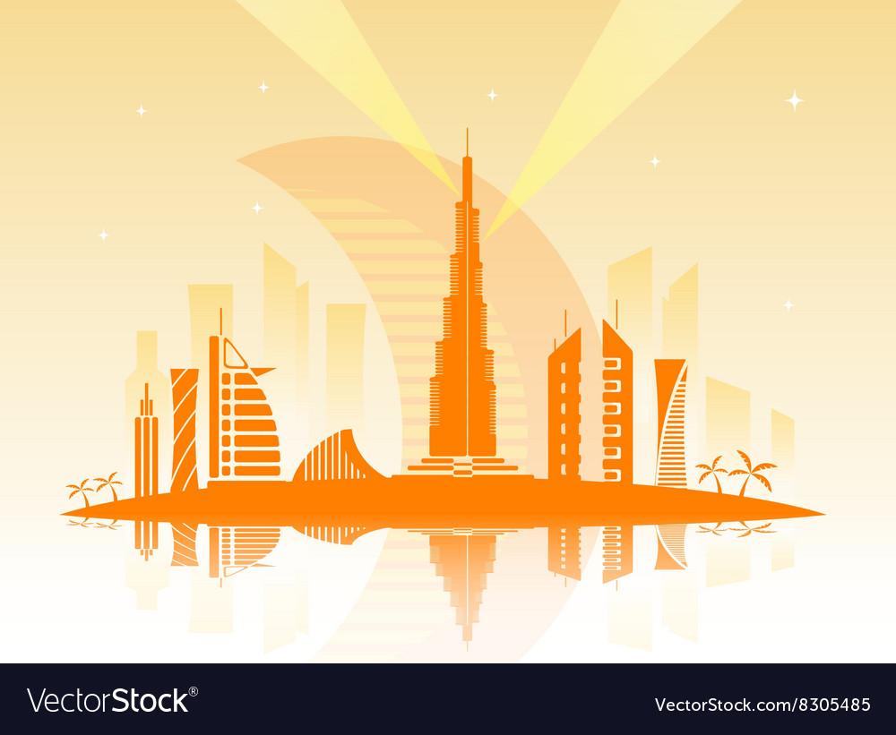 The city of Dubai vector image