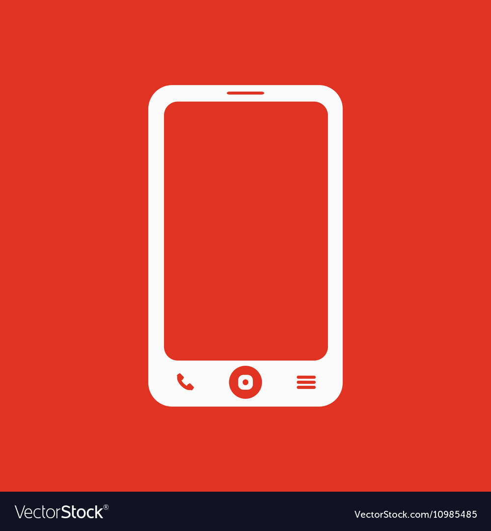 The Smartphone Icon Phone Symbol Royalty Free Vector Image