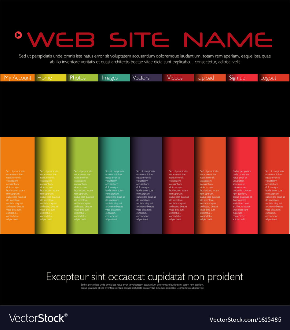 Web site colorful design template