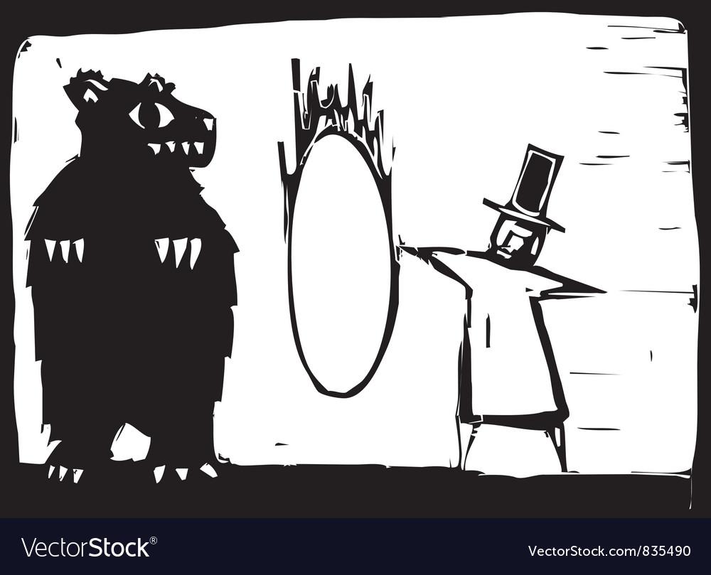 Bear and Hoop vector image