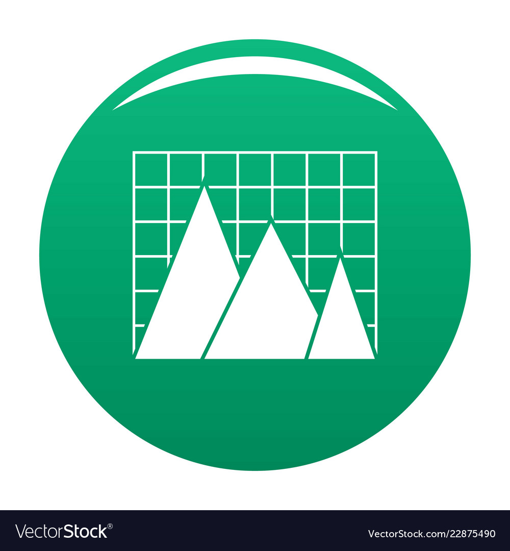 Business chart icon green