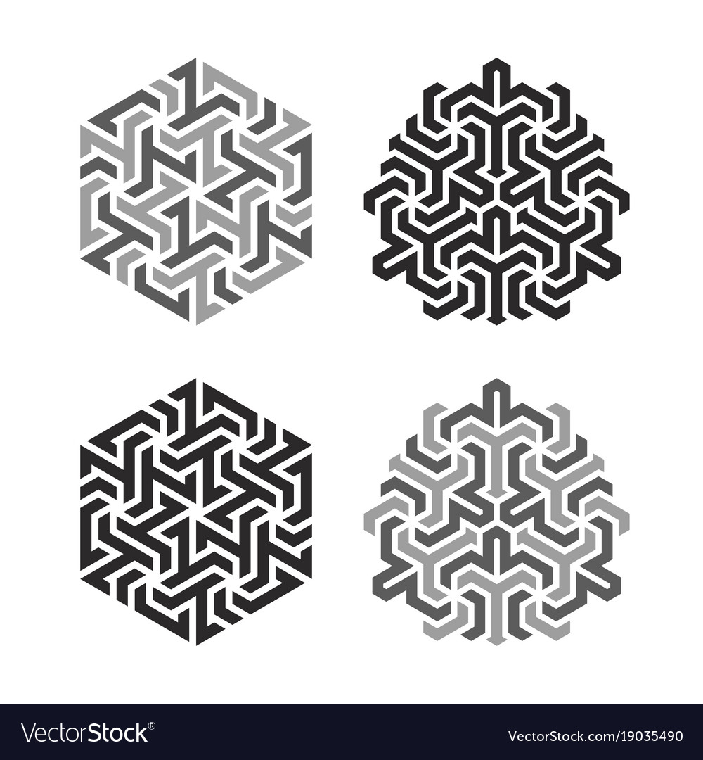 Design tattoo in geometric tessellation style
